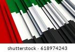 fragment flag of united arab... | Shutterstock . vector #618974243