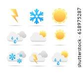vector weather icon   Shutterstock .eps vector #618975287