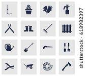 set of 16 household icons set... | Shutterstock .eps vector #618982397
