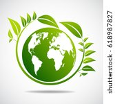 ecology concept. save world | Shutterstock .eps vector #618987827