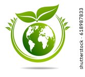 ecology concept. save world | Shutterstock .eps vector #618987833