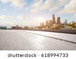 empty brick floor with... | Shutterstock . vector #618994733
