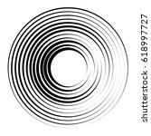 concentric circles geometric... | Shutterstock .eps vector #618997727