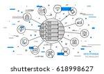 data storage technology vector... | Shutterstock .eps vector #618998627