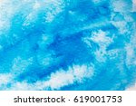 abstract blue watercolor... | Shutterstock . vector #619001753