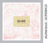 chic gold marble vector design | Shutterstock .eps vector #619008413