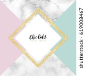 chic gold marble vector design | Shutterstock .eps vector #619008467