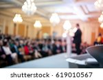 speaker at business conference. ... | Shutterstock . vector #619010567