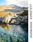 fairy pool  scottish highlands  ...   Shutterstock . vector #619027277