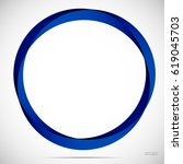 abstract blue round frame on a... | Shutterstock .eps vector #619045703