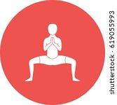 buddhist pose | Shutterstock .eps vector #619055993