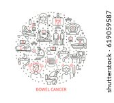 bowel cancer vector illustration | Shutterstock .eps vector #619059587