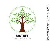 big tree logo vector... | Shutterstock .eps vector #619061243