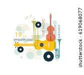 music logo. music festival ... | Shutterstock .eps vector #619068077