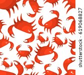 crab seamless pattern | Shutterstock .eps vector #619068827