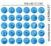 weather pack line icons set.... | Shutterstock .eps vector #619084157