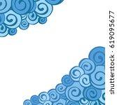 decorative element border.... | Shutterstock .eps vector #619095677