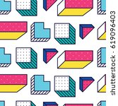 seamless pattern in 90 80 style ... | Shutterstock .eps vector #619096403