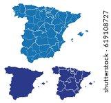 map of spain | Shutterstock .eps vector #619108727