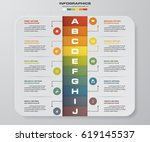 infographic design template 10... | Shutterstock .eps vector #619145537