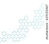 hexagonal structure molecule...   Shutterstock . vector #619152467