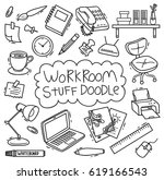 workroom stuff doodle isolated... | Shutterstock .eps vector #619166543