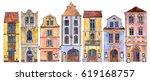 european urban residential... | Shutterstock . vector #619168757