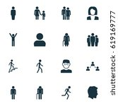 human icons set. collection of... | Shutterstock .eps vector #619169777