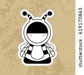 cartoon cute monsters. | Shutterstock .eps vector #619170863