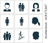 People Icons Set. Collection O...