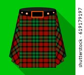scottish tartan kilt.the men's... | Shutterstock . vector #619179197