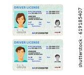 bitmap man and woman driver... | Shutterstock . vector #619185407
