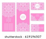 set card  flyer  banner with... | Shutterstock . vector #619196507