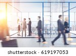 rear view of businesspeople... | Shutterstock . vector #619197053
