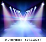 way at night. vector... | Shutterstock .eps vector #619210367