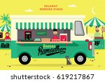 ramadan food truck template... | Shutterstock .eps vector #619217867