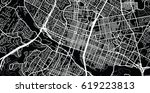 urban vector city map of austin ... | Shutterstock .eps vector #619223813