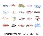 lettering and calligraphy... | Shutterstock .eps vector #619232243