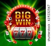 big win slots 777 banner casino.... | Shutterstock .eps vector #619232567