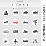 transport vector icons for user ... | Shutterstock .eps vector #619242857
