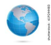 world map and globe   Shutterstock .eps vector #619244483