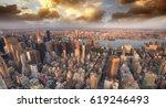 beautiful skyline of manhattan... | Shutterstock . vector #619246493