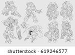 digital illustration of rough... | Shutterstock . vector #619246577