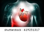 3d human heart  medical anatomy | Shutterstock . vector #619251317