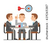 business meeting | Shutterstock .eps vector #619265387