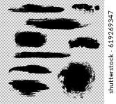 black stain | Shutterstock . vector #619269347