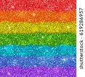 rainbow background with shiny... | Shutterstock . vector #619286957