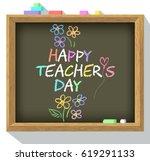 happy teacher's day. greeting...   Shutterstock .eps vector #619291133