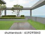 sky garden on rooftop of... | Shutterstock . vector #619295843