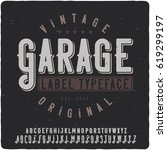 vintage label typeface named... | Shutterstock .eps vector #619299197